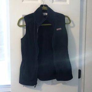 Vineyard vines navy fleece vest